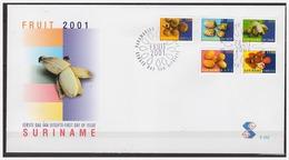Surinam / Suriname 2001 FDC 252 Fruit Fruits Fruchte Noni Banana Banane Mope Pommerak - Suriname