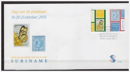 Surinam / Suriname 2001 FDC 254 Butterfly Schmetterling Papillon  Stamp On Stamp - Suriname