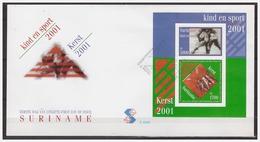 Surinam / Suriname 2001 FDC 256a Kind En Sport Child And Sport Kind Und Sport Enfent Et Sport S/S - Suriname