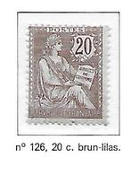 FRANCE N°126 - NEUF * - 1900-27 Merson
