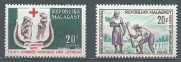 Madagascar YT N°418-419 Journée Mondiale Des Lépreux - Reboisement Neuf ** - Madagascar (1960-...)
