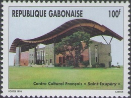 Gabon Gabun 1996 Centre Culturel Français Saint Exupéry 3 Valeurs Imprimerie Cartor - Gabon