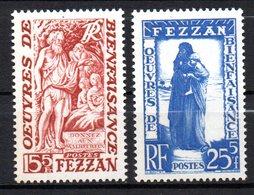Col 8 : Fezzan Neuf XX MNH N° 54 & 55 Cote 6,00 € - Fezzan (1943-1951)