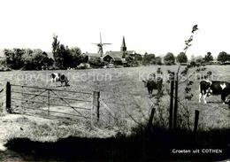 72700692 Cothen Teilansicht Muehle Kirche Cothen - Pays-Bas