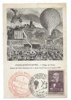 PARIS MONTMARTRE - Siège De Paris - Départ De Léon Gambetta De La Place Saint Pierre 7 Octobre 1870 - Entier Postal - Arrondissement: 18