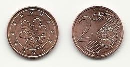 2 Cent, 2016, Prägestätte (G) Vz, Sehr Gut Erhaltene Umlaufmünze - Germany