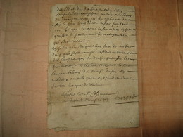 LONGUE ORDONNANCE MEDECINE MANUSCRITE SIGNEE POUR M. CHOMAT 1687 ENFLURES JAMBES HYDROPHISIE - Manuscritos