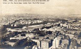 CPA PARIS - VUE SUR LE SACRE COEUR PRISE DE LA TOUR EIFFEL - Sacré Coeur