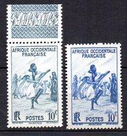 Col 8 : Afrique AOF Neuf XX MNH N° 24 & 24a Cote 20,50 € - A.O.F. (1934-1959)