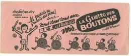 BUVARD 1962 Rose  - Au CINEMA REX - LE FRANCAIS - LA GUERRE DES BOUTONS FILM  D'YVES ROBERT - Non Classificati