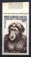 Col 8 : Afrique AOF Neuf XX MNH N° 51 Cote 2,50 € Singe Chimpanzé - A.O.F. (1934-1959)
