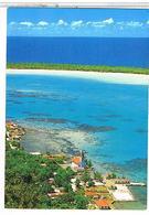 MAUPITI  LE  VILLAGE  DEVANT  LE  LAGON  ETINCELANT  CPM  TBE   1L21 - Polynésie Française