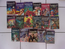 Lot 17 Anthologies De SF UNIVERS 02 03 04 05 06 07 09 10 11 12 13 14 15 17 ...1980 1981 1982 Tbe - J'ai Lu
