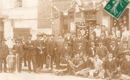 CARTE-PHOTO De VERFEIL - La Fanfare En 1907 (RARE!!). - Verfeil
