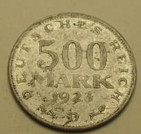 1923 - Allemagne - Germany - Weimar Republic - 500 MARK, (D), KM 36 - [ 3] 1918-1933 : Weimar Republic