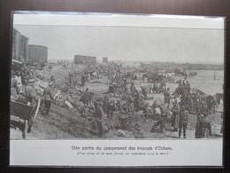 1919 -  ODESSA Одесса - Le Campement Des Réfugiés - Coupure De Presse Originale(Encart Photo) - Documents Historiques