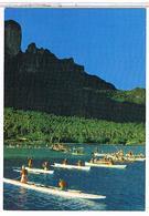 BORA  BORA  PECHE  AUX  CAILLOUX   STONEFISHING      TBE   CPM     1V729 - Polynésie Française