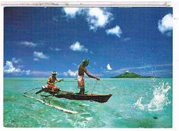 Bora  Bora  Peche  Aux  Cailloux         CPM  Tbe   1W540 - Polynésie Française