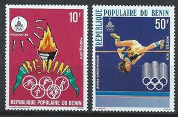Bénin YT 455-456 XX / MNH Sport Jeux Olympiques Moscou 1980 - Benin - Dahomey (1960-...)