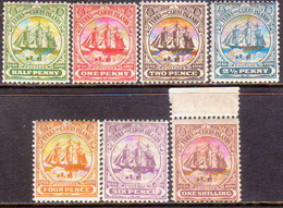 TURKS AND CAICOS ISLANDS 1900 SG #101-07 Set To 1sh MH/MNH (½d Is MNG) Wmk Crown CA - Turks And Caicos