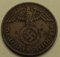 1938 - Allemagne - Germany - IIIè Reich - 2 REICHSPFENNIG, (F), KM 90 - [ 4] 1933-1945 : Third Reich