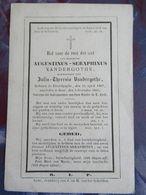 BIDPRENTJE AUGUSTINUS VANDERGOTHE ELVERDYNGHE 1807 - 1865 - Religion & Esotérisme