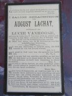 BIDPRENTJE AUGUST LACHAT (X VANROOSE ) LEKE 1841 - 1911 - Religion & Esotérisme