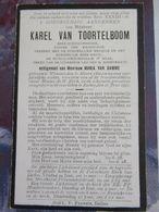 BIDPRENTJE KAREL VAN TOORTELBOOM ( VAN DAMME ) 1862 - 1927 - Religion & Esotérisme