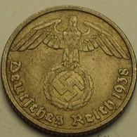 1938 - Allemagne - Germany - IIIè Reich - 10 REICHSPFENNIG, (D), KM 92 - 10 Reichspfennig