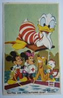RARE CHROMO SAVON CADUM WALT DISNEY 50's Serie 2 N°07 DONALD PLONGE - Confiserie & Biscuits