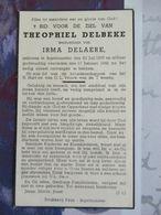BIDPRENTJE THEOPHIEL DELBEKE INGELMUSTER 1876 - 1946 - Religion & Esotérisme
