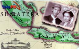 INDONESIA INDONESIEN - Telepin Wedding Elok And Iben 17 Oktober 1998  .- MINT   RRR - Indonesia