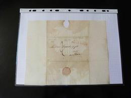 LETTRE DE POINT A PITRE POUR LE HAVRE    1827   AVEC CACHET COLONIES PAR LE HAVRE - 1801-1848: Precursors XIX