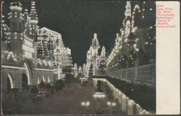The Main Promenade, Luna Park, Coney Island, New York, C.1905 - Souvenir Post Card Co Postcard - Brooklyn