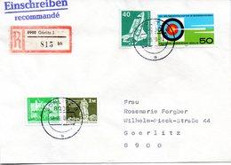 """(Gm2) BRD Übergangs-Brief """"Mischfrankatur: DDR, BRD, WB TST 10.9.90 GÖRLITZ 3 - Briefe U. Dokumente"""