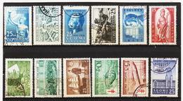 AUA678 FINNLAND  L O T  Aus 1954/55  Gestempelt / Entwertet  ZÄHNUNG Und STEMPEL SIEHE ABBILDUNG - Finnland