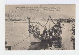 Combat Naval Fleuri De Villefranche Sur Mer. Embarcation De MM. Les Officiers Du 24e Chasseurs Alpins. (2686) - Villefranche-sur-Mer