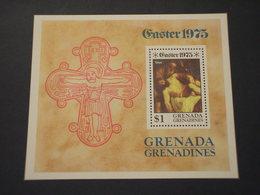 GRENADA  GRENADINES - BF 1975 PASQUA QUADRI - NUOVO(++) - Grenada (...-1974)