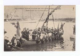Combat Naval Fleuri De Villefranche Sur Mer. Embarcation De La République. Militaires. Dames Avec Chapeaux. (2687) - Villefranche-sur-Mer