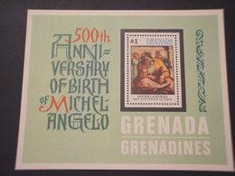 GRENADA  GRENADINES - BF 1975 MICHELANGELO  QUADRO - NUOVO(++) - Grenada (...-1974)