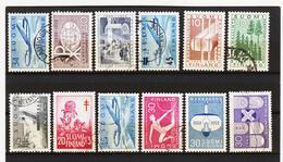 AUA681 FINNLAND  L O T  Aus 1957/60  Gestempelt / Entwertet  ZÄHNUNG Und STEMPEL SIEHE ABBILDUNG - Finnland