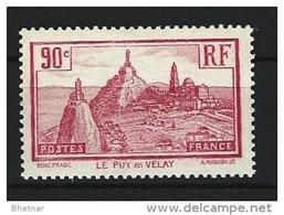 "FR YT 290 "" Le Puy-en-Velay "" 1933 Neuf** - France"