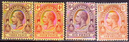 TURKS AND CAICOS ISLANDS 1913 SG #133//37 Part Set MH 6d Has A Small Fault Wmk Mult.Crown CA - Turks And Caicos