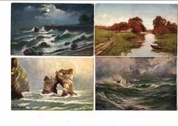 LOT 1 - COLLECTION DE 100 CPA Début 1900 Peintures Et Sculptures - Peintures & Tableaux