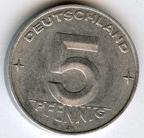 Allemagne Germany 5 Pfennig 1953 A J 1506 KM 6 - [ 6] 1949-1990 : GDR - German Dem. Rep.