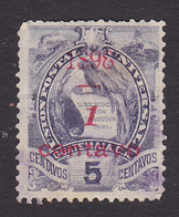 Guatemala, Scott #75, Used, National Emblem Surcharged, Issued 1898 - Guatemala