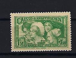 """FR YT 269 """" Caisse Amortissement Coiffes Des Provinces """" 1931 Neuf** - Frankreich"""