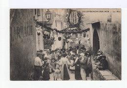 Villefranche Sur Mer. Les Mais. Fête Avec Ronde, Lampions. Enfants. Femmes En Costume Provençal. (2690) - Villefranche-sur-Mer