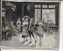 DANSE De COUR Du XVIe - SOIE TISSEE - STEVENGRAPH Wowen Silk - N.F. NEYRET D'après A. PEREZ - TAVERNE En ALLEMAGNE - Tapis & Tapisserie