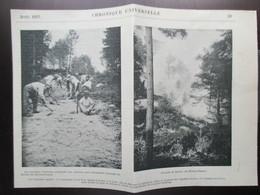 1897  -  ARBONNE - Lutte Anti Incendie   - Coupure De Presse Originale(Encart Photo) - Documents Historiques